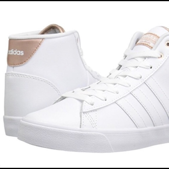915fd7a5834 Adidas cloudfoam daily QT white with rose gold new